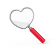 Heart shaped magnifying glass
