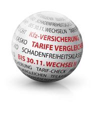 bis 30.11. kfz versicherung tarife checken wechseln 3d kugel