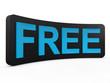 Free plate 3d render illustration
