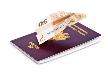 Billet avion et passeport