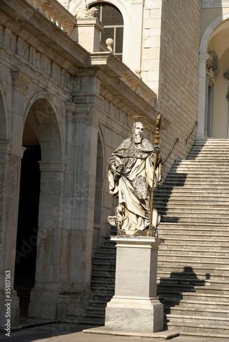 stutue of Saint.Benedict in Monte Cassino