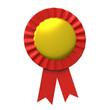 Blank award ribbon rosette 3d