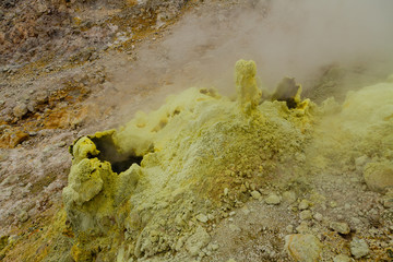 soufre volcan papandayan