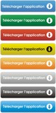 boutons télécharger l'application