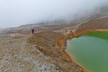 lac du volcan papandayan