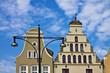 Historische Gebäude in Rostock.