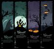 Vector Halloween banners. standard size