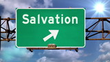 Salvation Road Sign poster