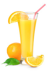 Orange juice in a glass