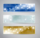 Fototapety Set of vector christmas / New Year banners