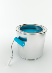 Paint bucket and paint roller