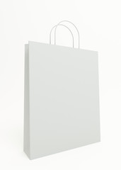 3d rendering of a empty shopping bag