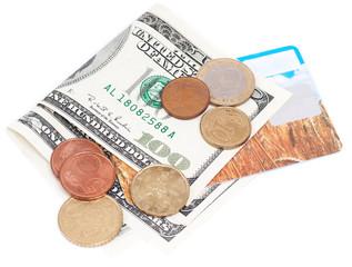 Coins over bills