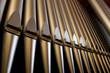 Leinwanddruck Bild - Church organ