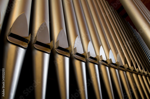 Leinwanddruck Bild Church organ