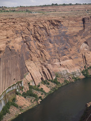 the Colorado River nearGlen Canyon Dam Arizona USA