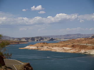 Lake Powell between Arizona and Utah USA