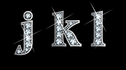 Diamond j, k, and l in lower case