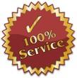 étiquette 100% service
