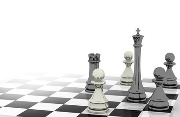3d chess background