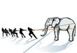 den Elefant vom Eis ziehen