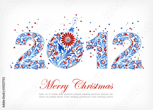 Sign 2012. Merry Christmas card