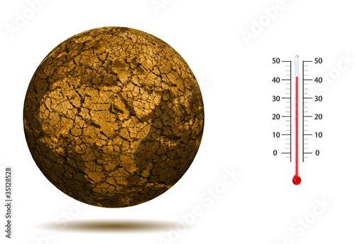 Leinwanddruck Bild Dérèglement climatique mondial.