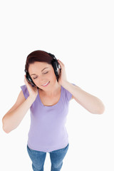 Charming Woman with headphones