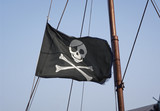 Jolly Roger skull and crossbones black pirate flag poster