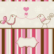 Birds love greeting card