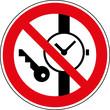 Verbotsschild Metallteile und Uhren verboten Zeichen