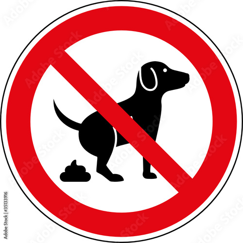 Verbotsschild Hundekot verboten - kein Hundeklo Zeichen
