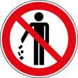 Verbotsschild Müll nicht in die Umwelt werfen Zeichen