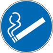 Gebotszeichen Rauchen erlaubt gestattet Schild Zeichen