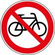 Verbotsschild Fahrräder verboten Zeichen Schild Symbol