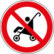 Verbotsschild Keine Kinderwagen abstellen Zeichen