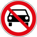 Verbotsschild Pkw verboten Zeichen Symbol Schild