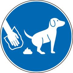 Gebotszeichen Hundekot mittels Tüte entsorgen Zeichen