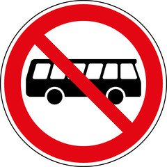 Verbotsschild Omnibus Bus Busse verboten Zeichen