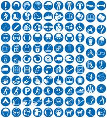 Gebotszeichen Set Sammlung Kollektion Schilder Zeichen