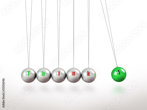 Newtons Cradle Pendulum Containing The Key Word Think