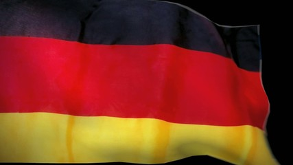 germany \ german waving flag revealer & alpha