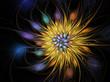Yellow fractal flower