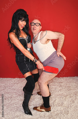 Dominatrix Spanking Eager Man
