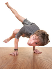 Teen Doing Yogasana