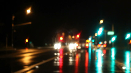 rainy night drive