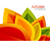 Fototapety Vector abstract autumn leaf background
