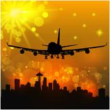 Fototapeta Airliner - Samolotem - Samolot