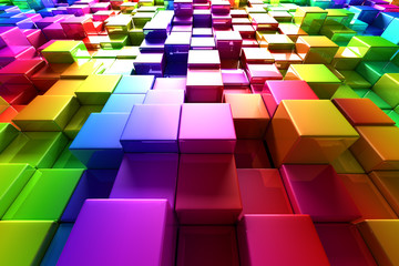 Colorful cubes © Leigh Prather