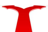Roter Pfeil in zwei Richtungen